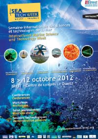 Sea Tech Week : semaine internationale des sciences et technologies de la mer. Du 8 au 12 octobre 2012 à Brest. Finistere.