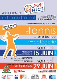 43ème tournoi international de tennis sur terre battue. Du 15 au 29 juin 2013 à Saint Laurent du Var. Alpes-Maritimes.