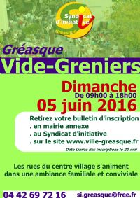 vide greniers de printemps le dimanche 5 juin 2016 gr asque bouches du rhone 09h00. Black Bedroom Furniture Sets. Home Design Ideas