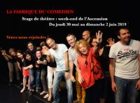 Stage théâtre impro week-end Ascension mai Avignon. Du 30 mai au 2 juin 2019 à Avignon. Vaucluse.  13H00