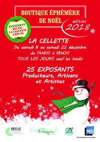 BOUTIQUE EPHEMERE DE NOËL La Cellette Creuse. Du 8 au 22 décembre 2018 à La Cellette Creuse. Creuse.  14H00